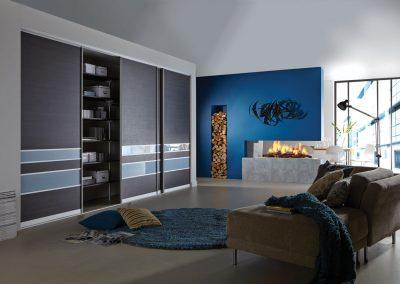 Hacienda Black Blue Metal Glass