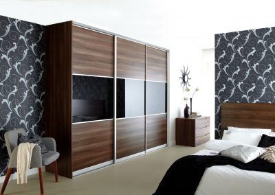 Black Glass Dark Walnut
